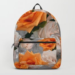 CORAL ROSES AND CHERRY BLOSSOMS Backpack