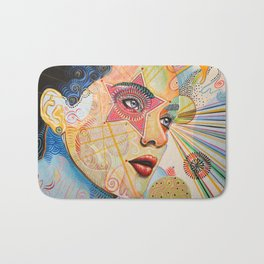 Abstract Art Female Women Portrait Painting ...Honestly Speaking Bath Mat