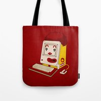 "mac Tote Bags featuring ""MAC"" Donalds by Chris Dk"