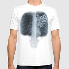 X Ray Bicycle heart components X-LARGE White Mens Fitted Tee