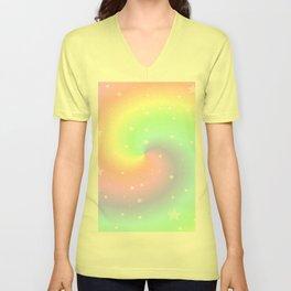 Rainbow Swirls and Stars Unisex V-Neck