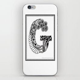 Zentangle G Monogram Alphabet Initials iPhone Skin