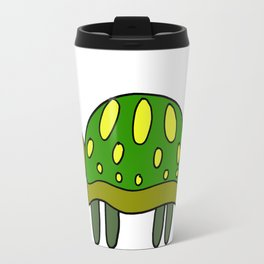 Funny drawn turtle in color Travel Mug