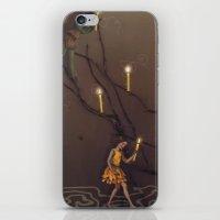 peter pan iPhone & iPod Skins featuring peter pan by Emily Tumen