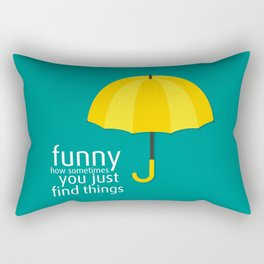 Yellow Umbrella Rectangular Pillow