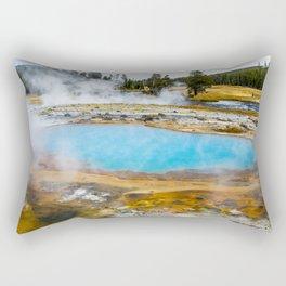 Hyper Blue Rectangular Pillow