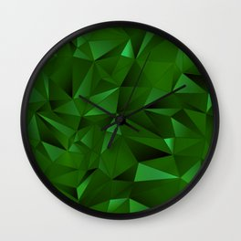 Rough Gems ~ Emerald Wall Clock