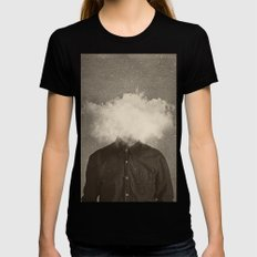 Head In the clouds Womens Fitted Tee MEDIUM Black