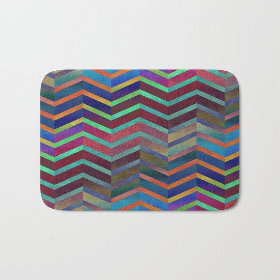 Color Transition Chevron Bath Mat