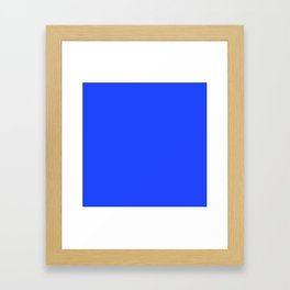 Cheapest Solid Deep Blue Orchid Color Framed Art Print