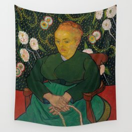 Vincent van Gogh - La Berceuse (Woman Rocking a Cradle; Augustine-Alix Pellicot Roulin, 1851–1930) Wall Tapestry