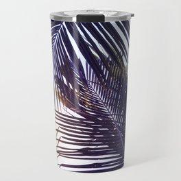 Palm Leaf in Sunset Travel Mug