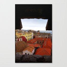 Cagliari city. Sardinia, Italy Canvas Print