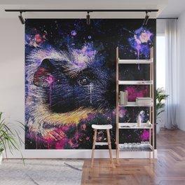 guinea pig colorful side portrait wsls Wall Mural