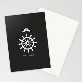I'm a captain.(on black) Stationery Cards