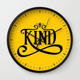 Be Kind Bee Wall Clock