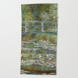 Monet, Water Lilies and Japanese Bridge, 1854 Beach Towel
