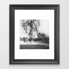 And now, with footing slow, let us retrace our steps back to the temples Framed Art Print