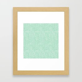 Hand Knit Mint Framed Art Print