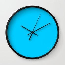 Solid Color Aqua Blue Wall Clock