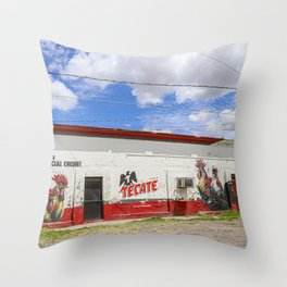 Club social cocorit  Throw Pillow