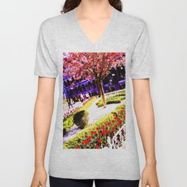 Intense and living colors. Unisex V-Neck