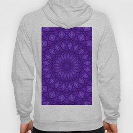 Ultra Violet and Purple Monotone Mandala Pattern Hoody