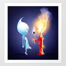 Flameo and Dropliette Art Print