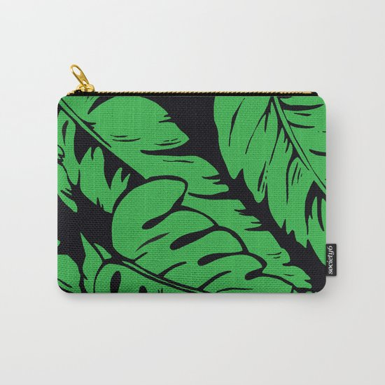 PALM LEAF GREEN Carry-All Pouch