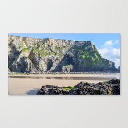Watergate Bay - Cliff Face Canvas Print