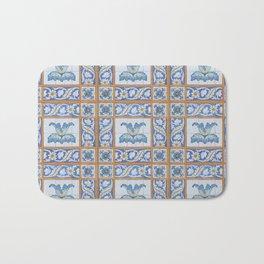 Vintage Art Nouveau Tiles Bath Mat