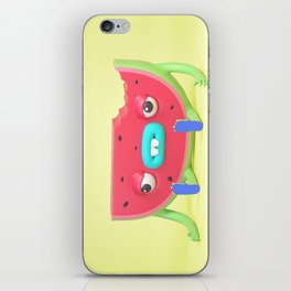 Watermelon dude iPhone Skin