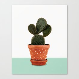 Cactus Pot Canvas Print