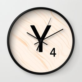 Scrabble Letter Y - Scrabble Art and Apparel Wall Clock