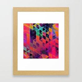 synthstar retro:80 Framed Art Print