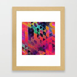 synthstar retro:80 Framed Art Print