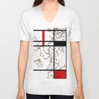 maps V-neck T-shirts featuring MIX MAPS by MehrFarbeimLeben