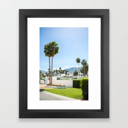 put the palm in palm springs Framed Art Print