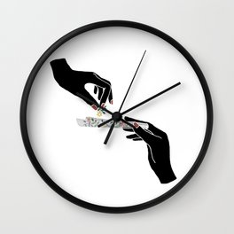 Flower roll / Illustration Wall Clock
