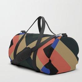 Abstract Dark Geometric Bauhaus Style Retro Pattern #24 Duffle Bag