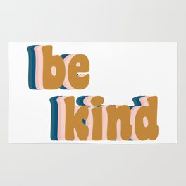 Be Kind Fun Retro Lettering Rug