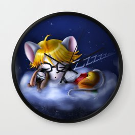 Starlight and Dewdrops Wall Clock