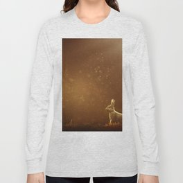 Rabbit in the Sunlit Forest Long Sleeve T-shirt