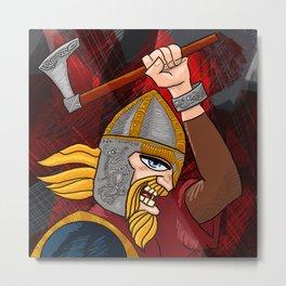 Viking Berserker Metal Print