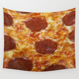 Pepperoni Pizza Wall Tapestry