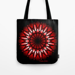 Burnt Umber Wonder Mandala Tote Bag