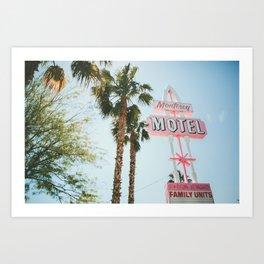 Motel Vintage Sign Art Print