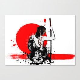 Trash Polka - Female Samurai Canvas Print