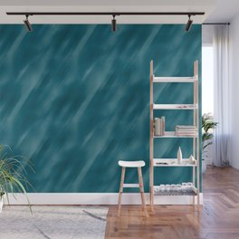 Tropical Dark Teal Inspired by Sherwin Williams 2020 Trending Color Oceanside SW6496 Abstract Blend Motion Blur Wall Mural