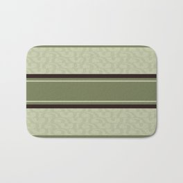 Sage green and brown tribal Bath Mat